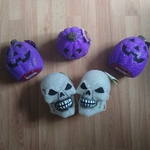 Other - 3/$20! Animated Pumpkin and Skull Decor